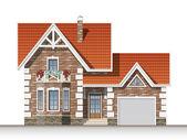 Casa de tijolo bonito — Vetor de Stock