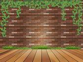 Mur de briques de fond — Vecteur