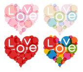 Color heart set — Stockvector