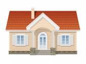 Suburban huis, realistische vectorillustratie — Stockvector