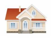 Suburban house isolated — Stock Vector