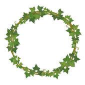 Ivy round frame — Vector de stock