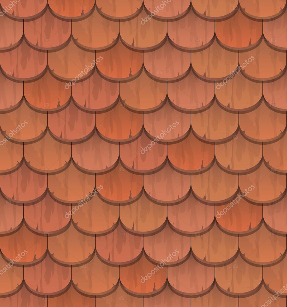 Tejas de arcilla roja vector de stock belikovand 69297487 - Dibujos de tejados ...