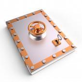 Livre et lock, 3d — Photo