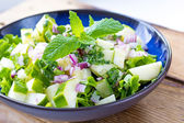 Healthy and fresh cucumber and mint salad — Foto Stock