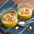 ������, ������: Chia seed puddings with saffron