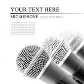 Microfono d'argento — Foto Stock