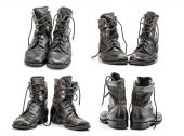 Combat boots group — Stock Photo