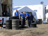 Volkswagen motorsport and Staff in Viana do Castelo, Portugal — Stock Photo