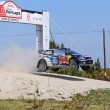 Постер, плакат: French driver Sebastien Ogier and co driver Julien Ingrassia steer their Volkswagen Polo R WRC during the 2nd stage of the Portuga