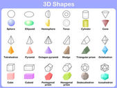 Learning the 3D shapes for kids — Stock Vector