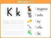 Alphabet Tracing Worksheet: Writing A-Z — Stockvector