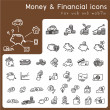 Set of icons for financial and money — Stock Vector #58810739