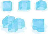 Vector ice-cubes on white background — Stock Vector