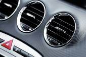 Air conditioner in modern car — Stock Photo