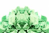 Green crumpled toilet paper on white — Foto de Stock