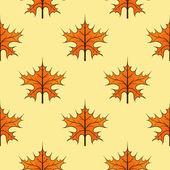 Seamless autumn maple leaves — Stock Vector