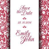Save the date invitation card — ストックベクタ