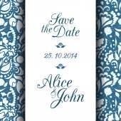 日付の招待状を保存します。 — ストックベクタ