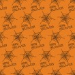 Happy Halloween. Seamless pattern with spiders web. Trick or treat. Vector illustration. Background. — Stock Vector #51993303