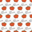 Happy Halloween. Seamless pattern with pumpkins. Trick or treat. Vector illustration. Background. — Stock Vector #51993873