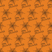 Happy Halloween. Seamless pattern with spiders web. Trick or treat. Vector illustration. Background. — Stock Vector