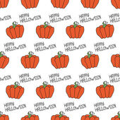 Happy Halloween. Seamless pattern with pumpkins. Trick or treat. Vector illustration. Background. — Stock Vector