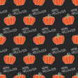 Happy Halloween. Seamless pattern with pumpkins. Trick or treat. Vector illustration. Background. — Stockvektor  #52000101