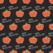 Happy Halloween. Seamless pattern with pumpkins. Trick or treat. Vector illustration. Background. — Vetor de Stock  #52000101