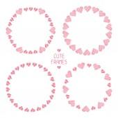 Frame van romantische harten. prachtige vectorillustratie. achtergrond. — Stockvector
