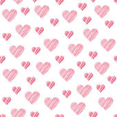 Romantic seamless pattern with hearts. Beautiful  vector illustration. Background. Endless texture can be used for printing onto fabric and paper or scrap booking. — Vector de stock