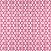 Pink seamless snowflakes pattern. Vector snow background. Christmas illustration. Can be used for wallpaper, pattern fills, textile, web page background, surface textures. — Stock Vector