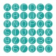 Simple colorful font. Complete abc alphabet set. Vector letters and numbers. Doodle typographic symbols. — Stock Vector #55345183