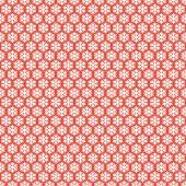 Red seamless snowflakes pattern. Vector snow background. Christmas illustration. Can be used for wallpaper, pattern fills, textile, web page background, surface textures. — Vector de stock