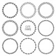 Vector set of hand drawn style badges and design elements. Doodle frames. Beautiful simple monochrome frames. — Stock Vector #55970587