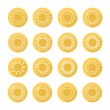 Set of sun web icons,symbol,sign in flat style. Suns collection. Elements for design. Vector illustration. — Stock Vector #58263183
