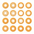 Set of sun web icons,symbol,sign in flat style. Suns collection. Elements for design. Vector illustration. — Stock Vector #58298715
