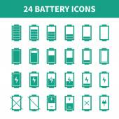 Battery web icons,symbol,sign in flat style. Charge level indicators. Vector illustration. — Stock Vector