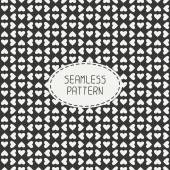 Romantic seamless pattern with hearts. Beautiful  vector illustration. Background. Endless texture can be used for printing onto fabric and paper or scrap booking.   — Stock Vector