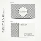 Vintage hipster striped simple monochrome business card template for your design. Line seamless geometric pattern.. Trendy calling card. Vector design eps10. — Stock Vector