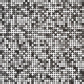 Vector silver abstract retro vintage pixel mosaic background of sparkling sequins for design. Disco shiny lights. Multicolor circles texture. — Stockvector