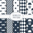 Set of hipster fashion geometric seamless pattern with mustache. Collection of paper for scrapbook. Wrapping paper. Vector background. Tiling. Stylish graphic texture for your design, wallpaper. — Stock Vector #70467005
