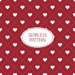 Red romantic wedding geometric seamless pattern with hearts wrapping