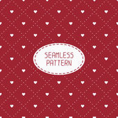 Red romantic wedding geometric seamless pattern with hearts. Wrapping paper. Scrapbook paper. Tiling. Vector illustration. Background. Graphic texture  for design. Valentines day — Stock Vector