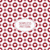 Red romantic wedding geometric seamless pattern with hearts. Wrapping paper. Scrapbook paper. Tiling. Vector illustration. Background. Graphic texture  for design. — Stock Vector