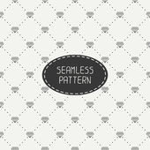 Monochrome hipster fashion geometric seamless pattern with diamond. Wrapping paper. Paper for scrapbook. Tiling. Vector illustration. Stylish graphic texture for design. — Stock Vector