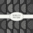 Set of  geometric monochrome art hipster line seamless pattern with circle, round. Collection of wrapping paper. Scrapbook paper. Tiling. Beautiful vector illustration. Background. Graphic texture for — Stock Vector #78709988