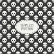 Geometric hipster seamless pattern with skulls and bones. Wrapping paper. Scrapbook paper. Tiling. Vector illustration. Background. Graphic texture for design. Happy Halloween. Trick or treat. — Stock Vector #79213678