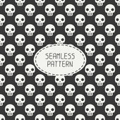 Geometric hipster seamless pattern with skulls and bones. Wrapping paper. Scrapbook paper. Tiling. Vector illustration. Background. Graphic texture for design. Happy Halloween. Trick or treat. — Stock Vector
