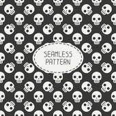 Geometriska hipster seamless mönster med skallar och ben. Omslagspapper. Scrapbook-papper. Plattsättning. Vektor illustration. Bakgrund. Grafiska struktur för design. Glad halloween. Bus eller godis. — Stockvektor